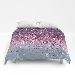 Unicorn Girls Glitter #6 #shiny #pastel #decor #art #society6 Comforters