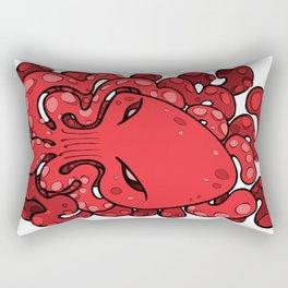 Octopus Squid Kraken Cthulhu Sea Creature - Cherry Tomato Rectangular Pillow