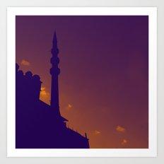 Purple Mosque Art Print