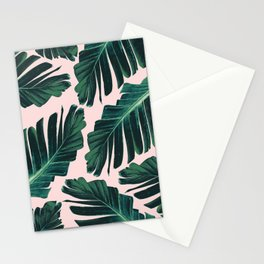 Tropical Blush Banana Leaves Dream #1 #decor #art #society6 Stationery Cards