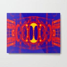 Fiery portal of our nightmares Metal Print