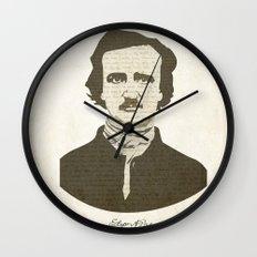 Edgar A. Poe Wall Clock