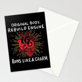 Open Heart Surgery Original Body Rebuilt Engine Runs Like A Charm Gift Stationery Cards