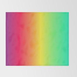rainbow abstract Throw Blanket