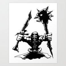 Migthy Orc Art Print