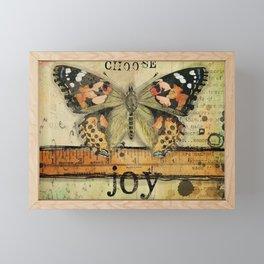 Choose joy everyday Framed Mini Art Print