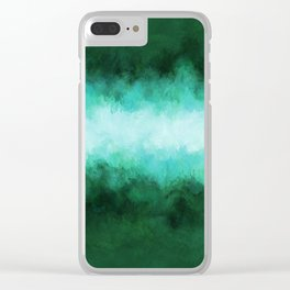 Green Forest Abstract Clear iPhone Case