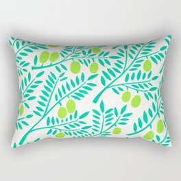 Olive Branches – Turquoise & Lime Palette Rectangular Pillow