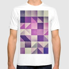 :: geometric maze VI :: MEDIUM White Mens Fitted Tee