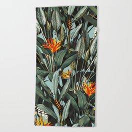Midnight Garden VIII Beach Towel