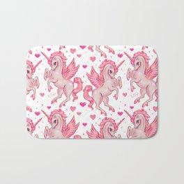 Pink Unicorn Pegasus Badematte