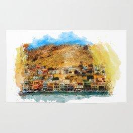 Kalymnos Greek Island Rug
