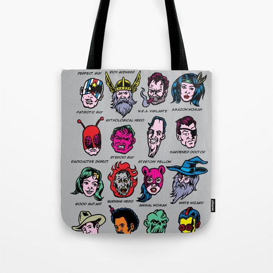 The Hall of Cliché Super Heroes Tote Bag