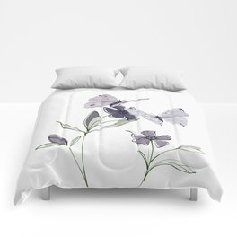 Flowers and butterflies 4 Comforters