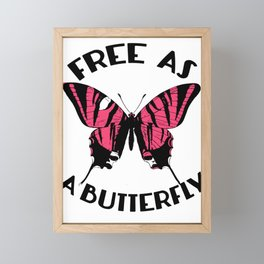 Free As A Butterfly Framed Mini Art Print
