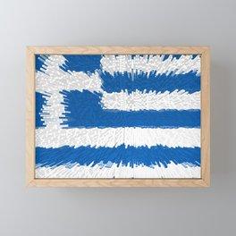 Extruded flag of Greece Framed Mini Art Print