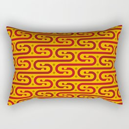 Wavy modern japanese pattern Rectangular Pillow