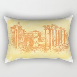 Rome imperial forums Rectangular Pillow