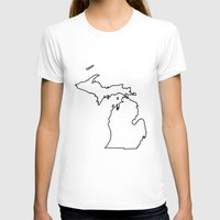 michigan T-shirts featuring Michigan by mrTidwell