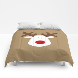 Christmas Reindeer-Brown Comforters