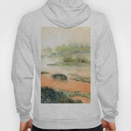 Egret On The Marsh Hoody