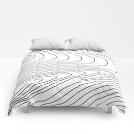 Topographic #440 Comforters