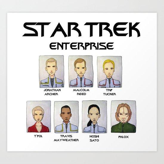 STAR TREK ENTERPRISE Art Print
