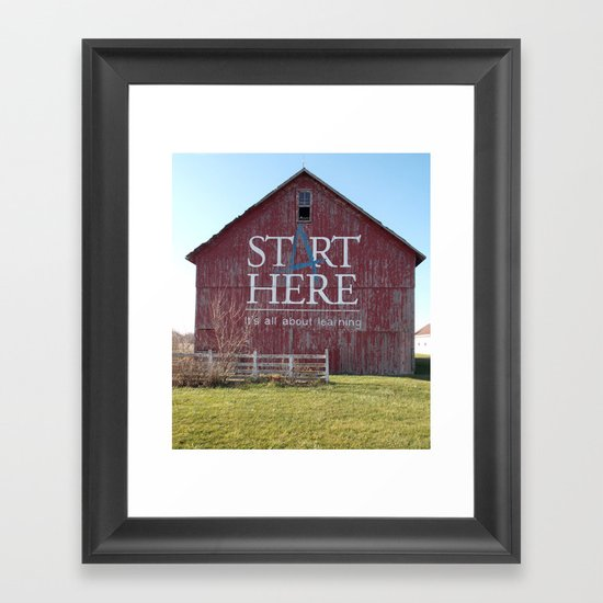 Start Here, It's All About Learning Framed Art Print