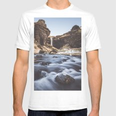 Secret waterfall White MEDIUM Mens Fitted Tee