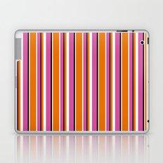 Fun Stripes pink orange Laptop & iPad Skin