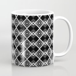 Triangles Diamonds Black & White Geometric Print Coffee Mug