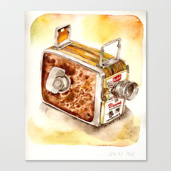 Vintage gadget series: Kodak Brownie 8mm Movie Camera (1956) Canvas Print