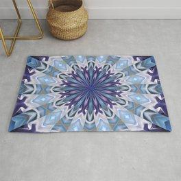 Winter abstract mandala Rug
