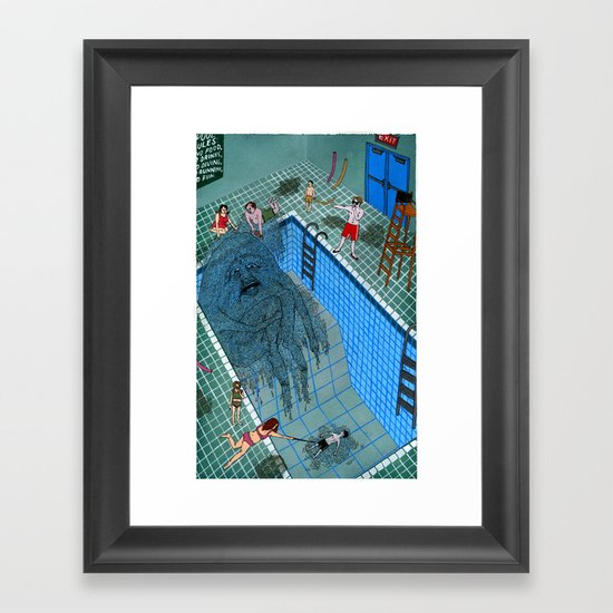 Pool Framed Art Print