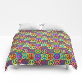 Pop Art Peace Symbols Comforters