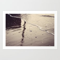 Reflections in the Sand Art Print