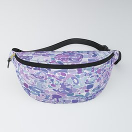 Blue and Purple Blobs Fanny Pack
