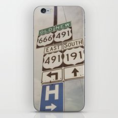 Old route... new route iPhone & iPod Skin