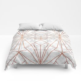 Art Deco Marble & Copper - Large Scale Comforters