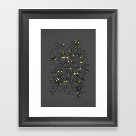 Night Safari Framed Art Print
