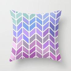 blue & purple chevron Throw Pillow