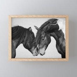 Horses - Black & White 4 Framed Mini Art Print