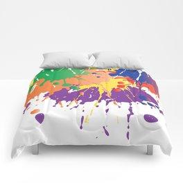 Colourful Paint splash Comforters