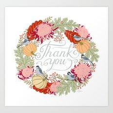 Thanksgiving thank you card Art Print