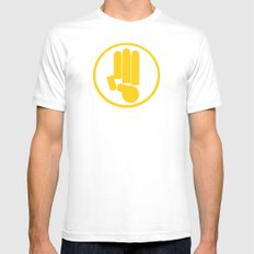 This is just A Tribute MEDIUM White Mens Fitted Tee