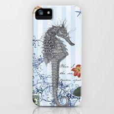 Seahorse in Blue Slim Case iPhone (5, 5s)