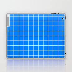 Grid (White/Azure) Laptop & iPad Skin