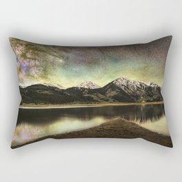 Milky way over twin lakes Rectangular Pillow