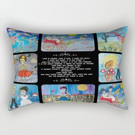 Day Of The Dead Wedding Story Rectangular Pillow