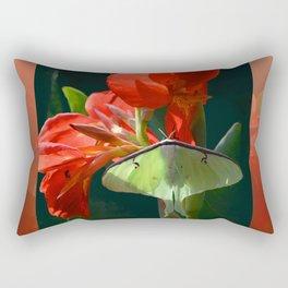 """Anticipation Of The Night"" - Luna moth Painting Rectangular Pillow"